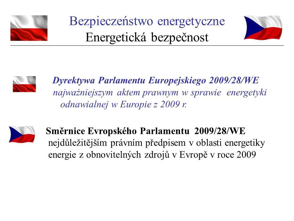 Dyrektywa Parlamentu Europejskiego 2009/28/WE najważniejszym aktem prawnym w sprawie energetyki odnawialnej w Europie z 2009 r. Bezpieczeństwo energet