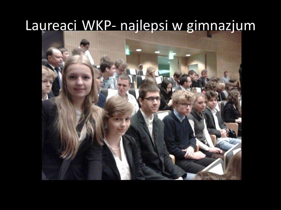 Laureaci WKP- najlepsi w gimnazjum