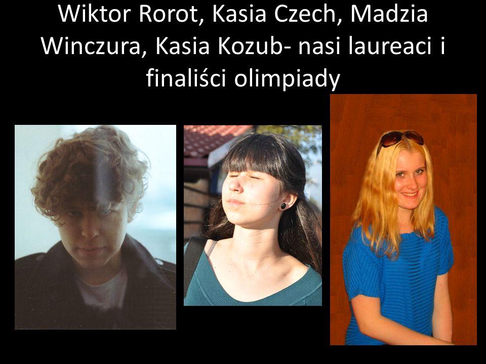 Wiktor Rorot, Kasia Czech, Madzia Winczura, Kasia Kozub- nasi laureaci i finaliści olimpiady