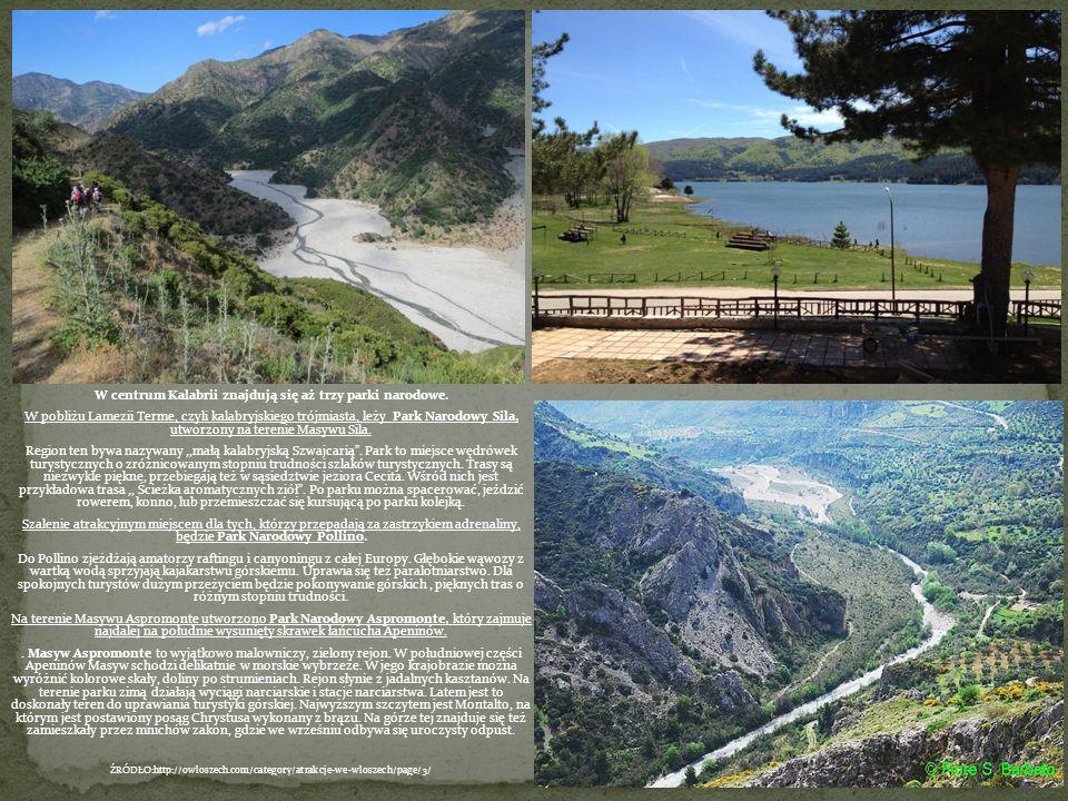 W centrum Kalabrii znajdują się aż trzy parki narodowe. W pobliżu Lamezii Terme, czyli kalabryjskiego trójmiasta, leży Park Narodowy Sila, utworzony n