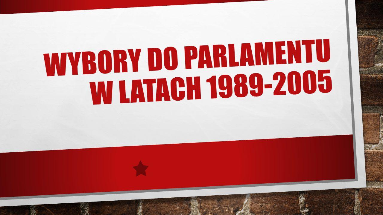 WYBORY DO PARLAMENTU W LATACH 1989-2005