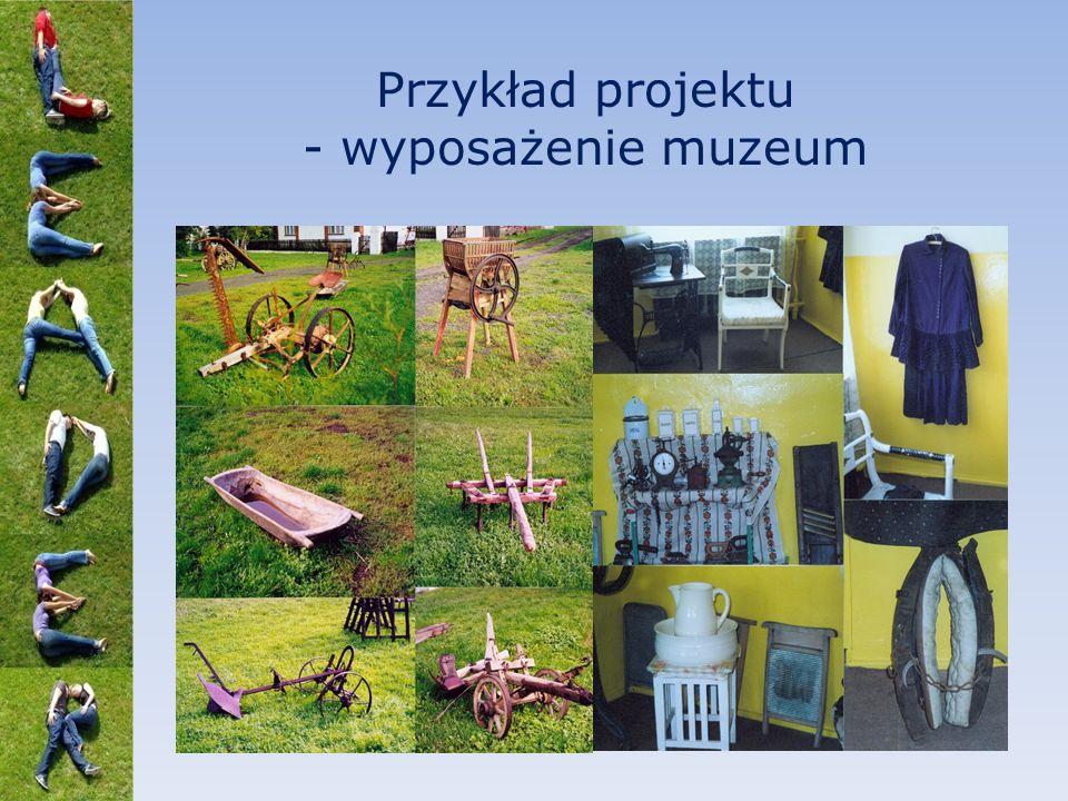 Przykład projektu - wyposażenie muzeum