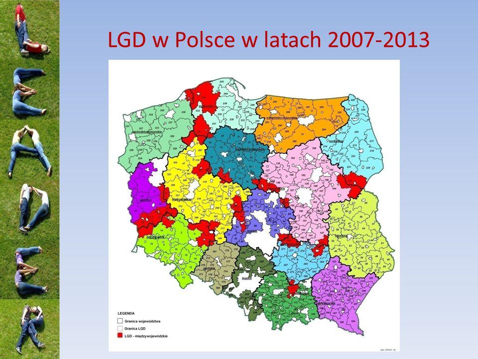 Obszar LSR – propozycje z symulacji LSR Podniesienie dolnego limitu ludności dla obszaru objętego jedną LSR do 30 tys.