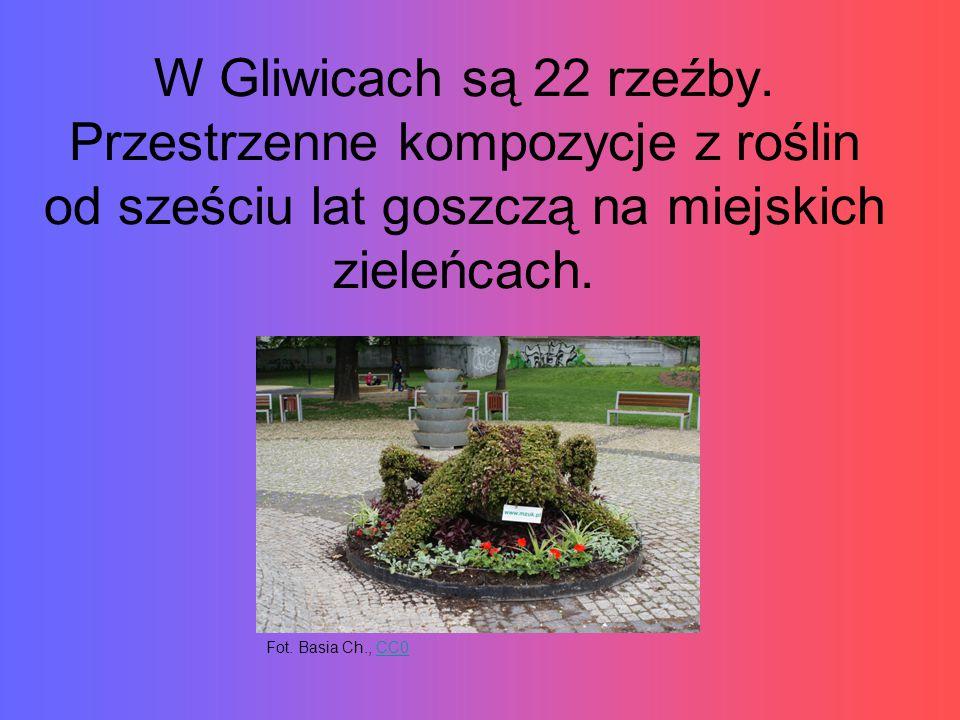 W Gliwicach są 22 rzeźby.