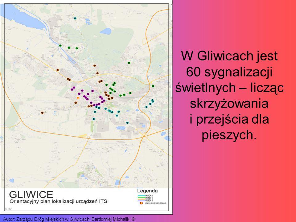 W Gliwicach jest 60 sygnalizacji świetlnych – licząc skrzyżowania i przejścia dla pieszych.