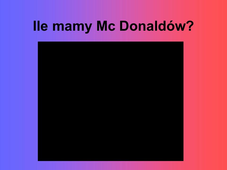 Ile mamy Mc Donaldów?