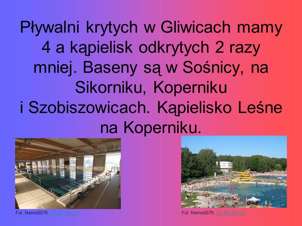 Pływalni krytych w Gliwicach mamy 4 a kąpielisk odkrytych 2 razy mniej.