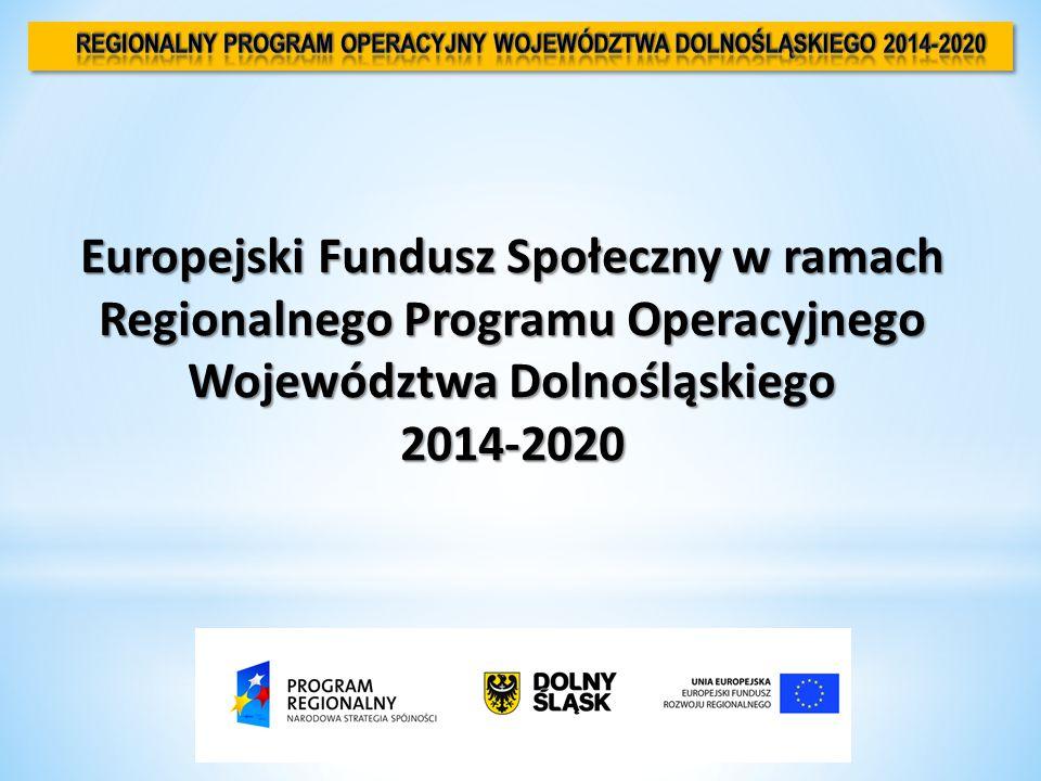 Europejski Fundusz Społeczny w ramach Regionalnego Programu Operacyjnego Województwa Dolnośląskiego 2014-2020