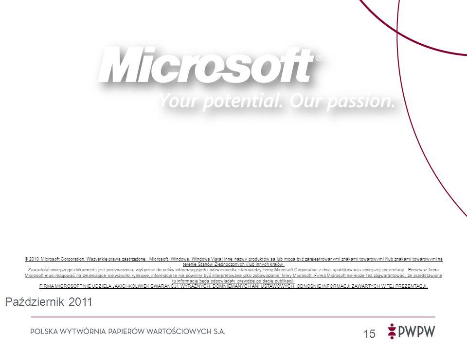 15 © 2010 Microsoft Corporation.Wszystkie prawa zastrzeżone.