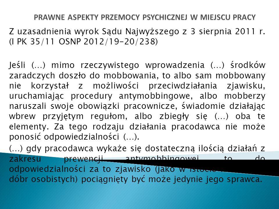 Z uzasadnienia wyrok Sądu Najwyższego z 3 sierpnia 2011 r. (I PK 35/11 OSNP 2012/19-20/238) Jeśli (…) mimo rzeczywistego wprowadzenia (…) środków zara