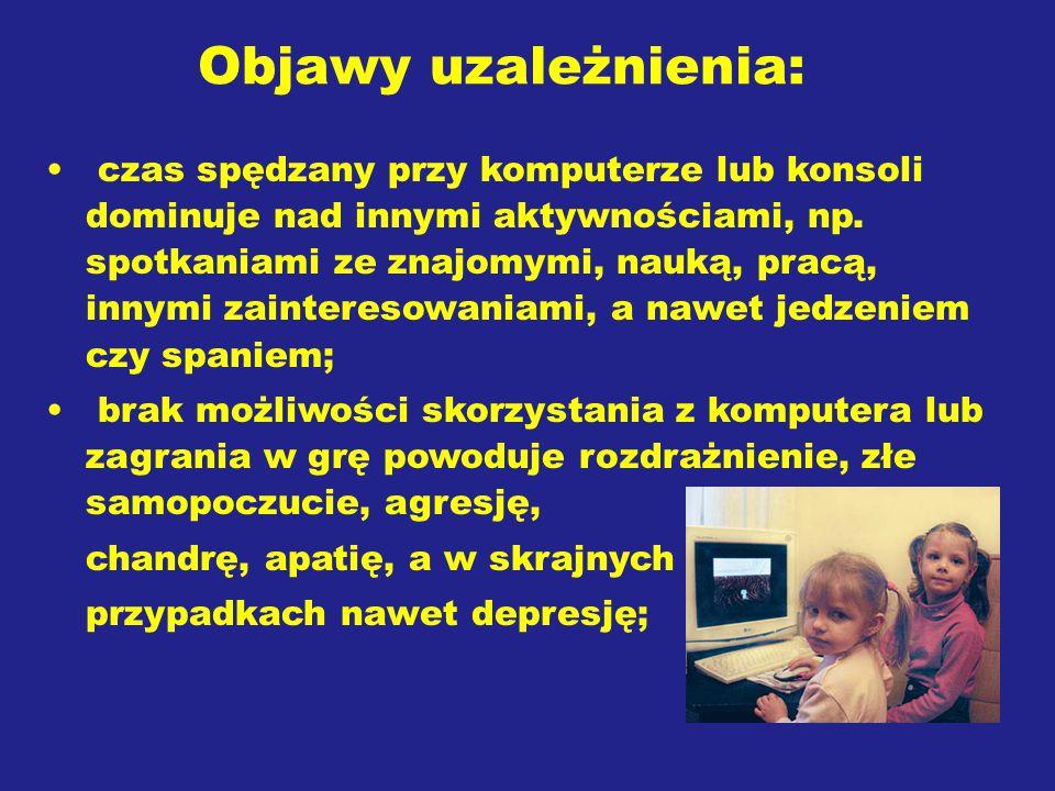Objawy uzależnienia: nadpobudliwość; zaburzenia lękowe; izolowanie się; zaburzenia i zmiany nastroju; problemy z zasypianiem i bezsenność; problemy z koncentracją ;