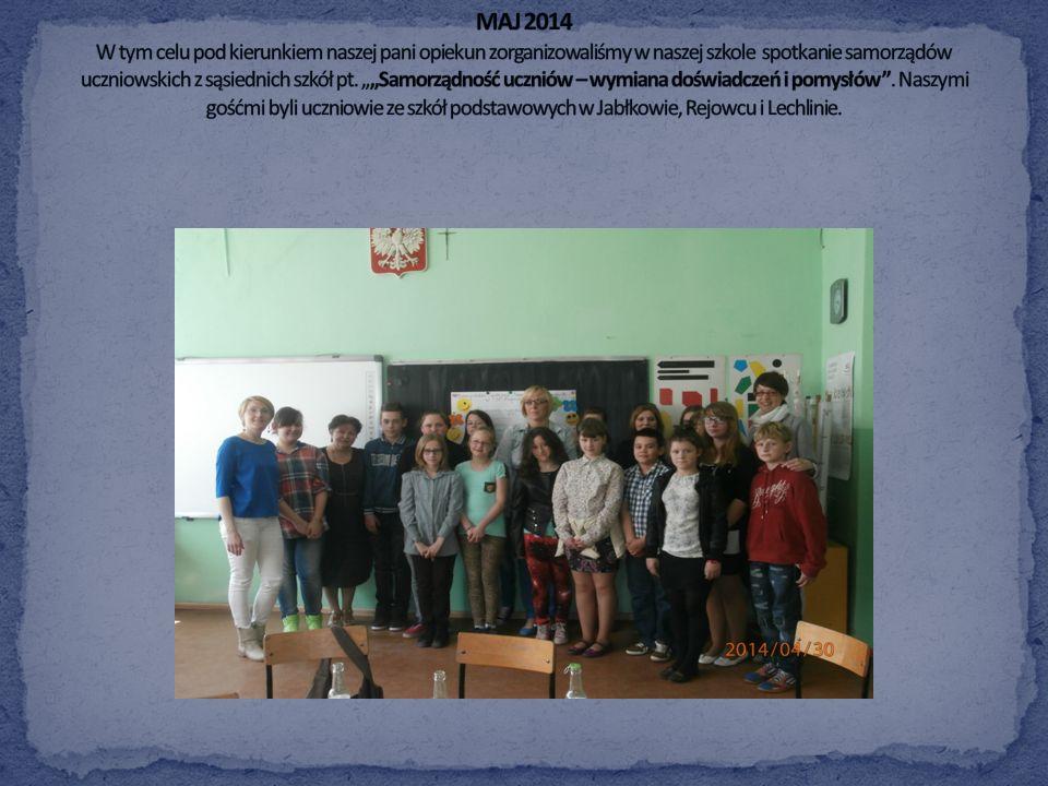 Samorząd Uczniowski powinien być otwarty na rozwijanie współpracy międzyszkolnej, wymianę doświadczeń i pomysłów. Razem możemy więcej.
