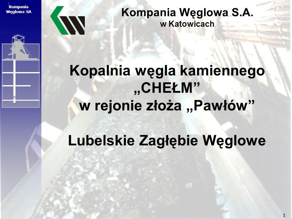 """1 1 Kompania Węglowa SA Kopalnia węgla kamiennego """"CHEŁM"""" w rejonie złoża """"Pawłów"""" Lubelskie Zagłębie Węglowe Kompania Węglowa S.A. w Katowicach"""