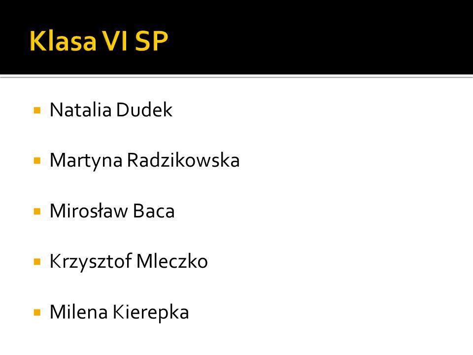  Natalia Dudek  Martyna Radzikowska  Mirosław Baca  Krzysztof Mleczko  Milena Kierepka
