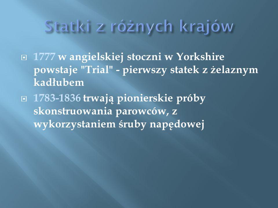  1777 w angielskiej stoczni w Yorkshire powstaje