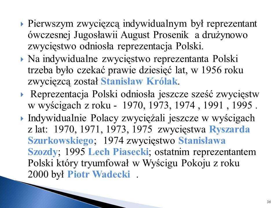  Pierwszym zwycięzcą indywidualnym był reprezentant ówczesnej Jugosławii August Prosenik a drużynowo zwycięstwo odniosła reprezentacja Polski.  Na i