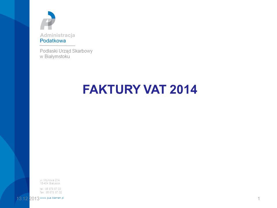 FAKTURY VAT 2014 ul.