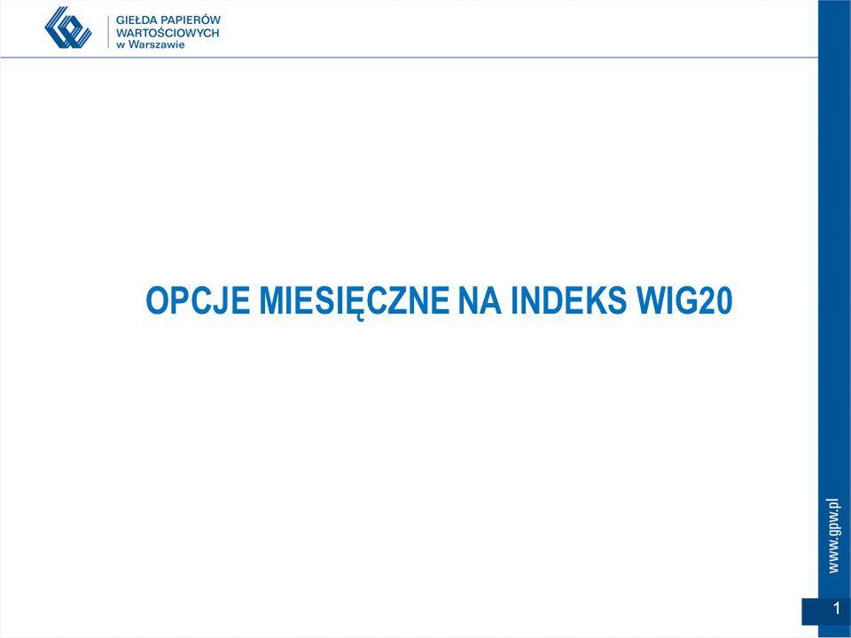 OPCJE MIESIĘCZNE NA INDEKS WIG20 1