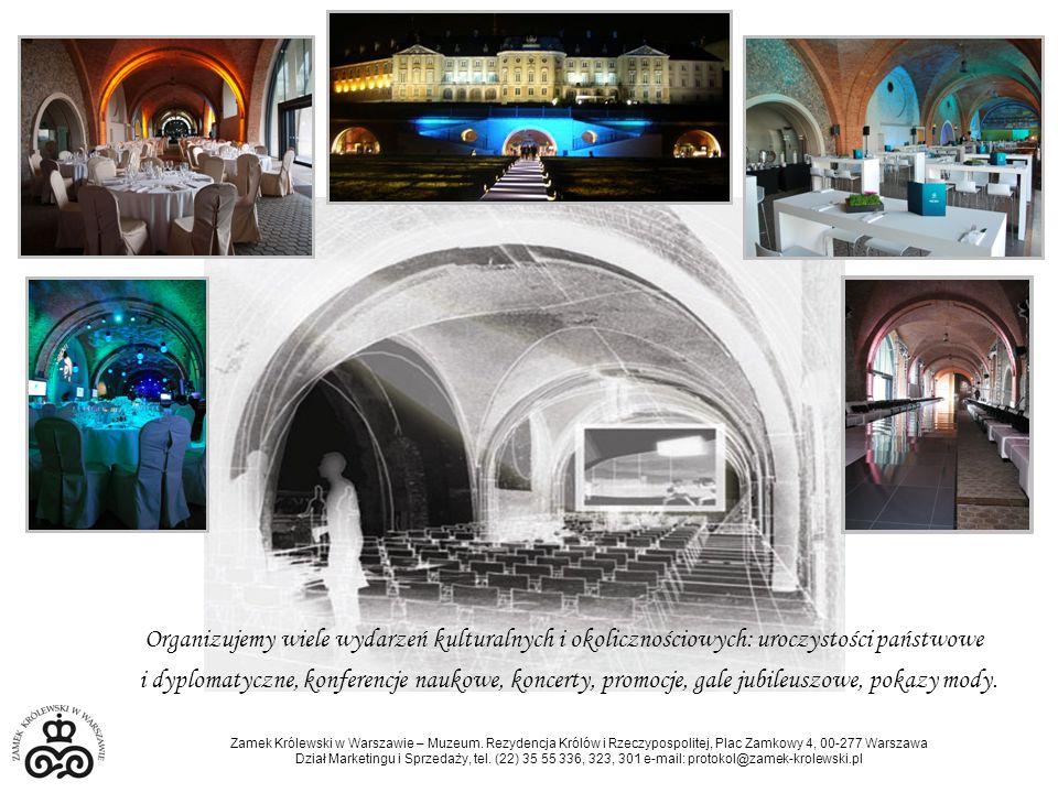 Organizujemy wiele wydarzeń kulturalnych i okolicznościowych: uroczystości państwowe i dyplomatyczne, konferencje naukowe, koncerty, promocje, gale jubileuszowe, pokazy mody.