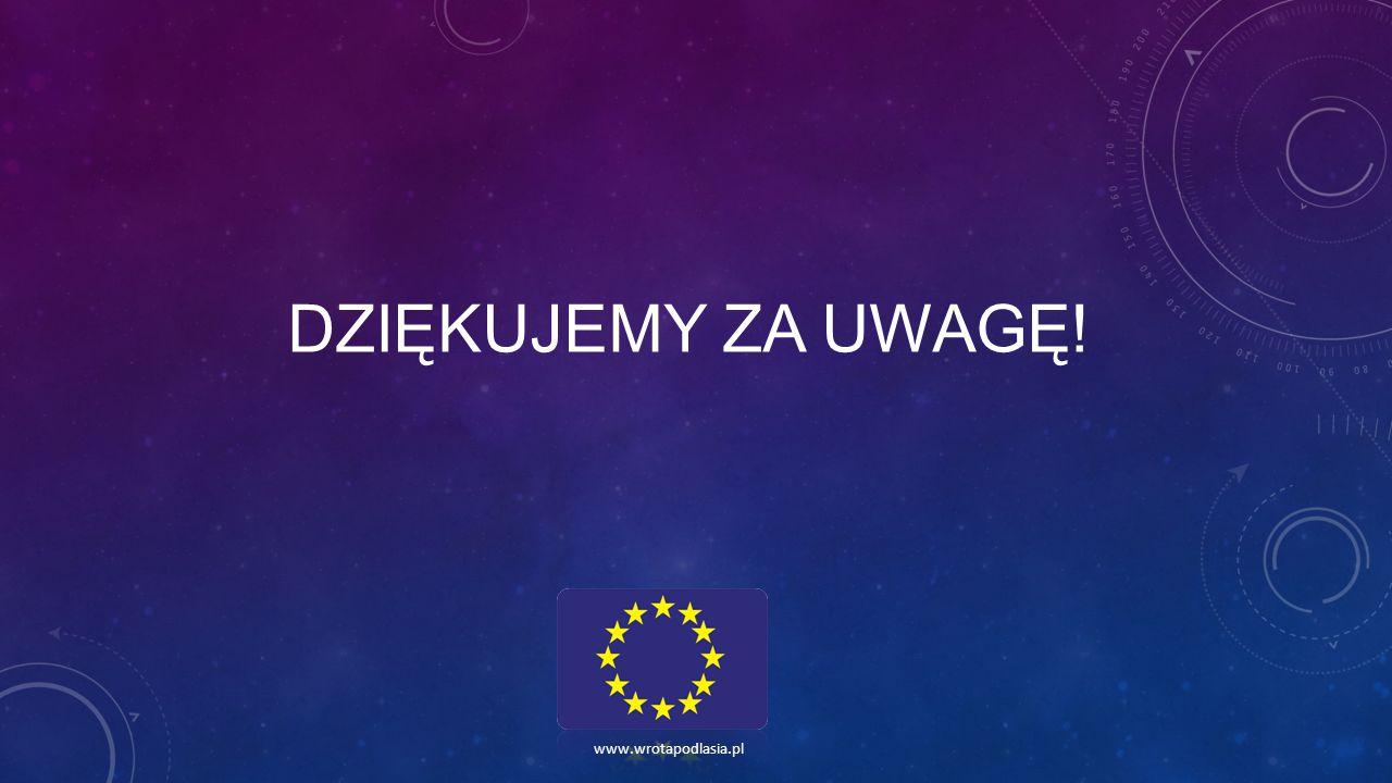 DZIĘKUJEMY ZA UWAGĘ! www.wrotapodlasia.pl