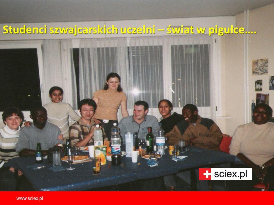 Studenci szwajcarskich uczelni – świat w pigułce…. www.sciex.pl