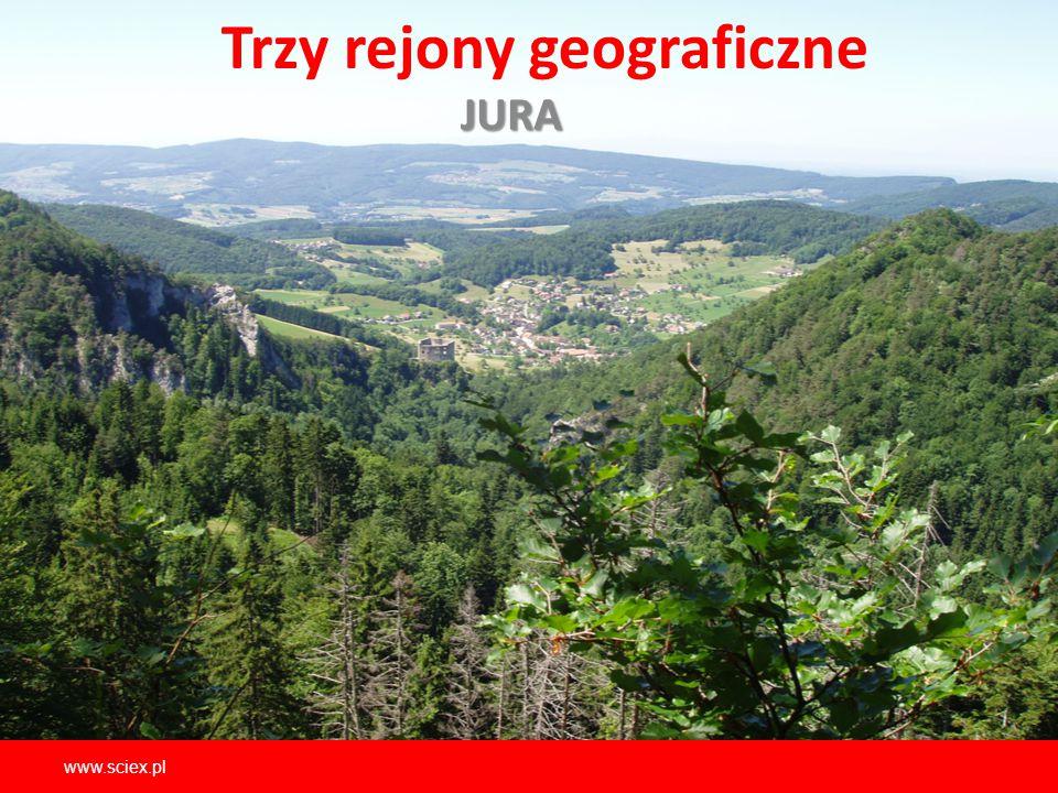 Trzy rejony geograficzneJURA www.sciex.pl