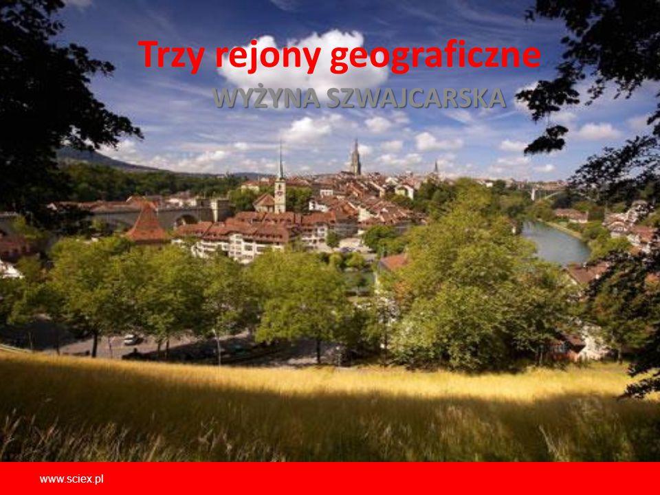 Trzy rejony geograficzne WYŻYNA SZWAJCARSKA www.sciex.pl