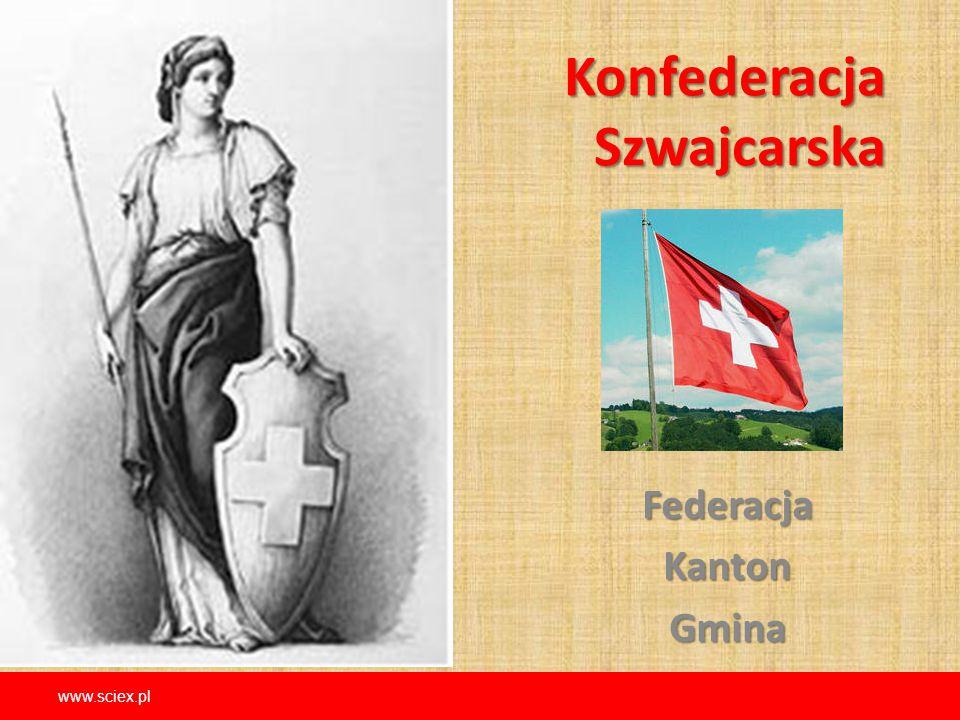Konfederacja Szwajcarska FederacjaKantonGmina www.sciex.pl
