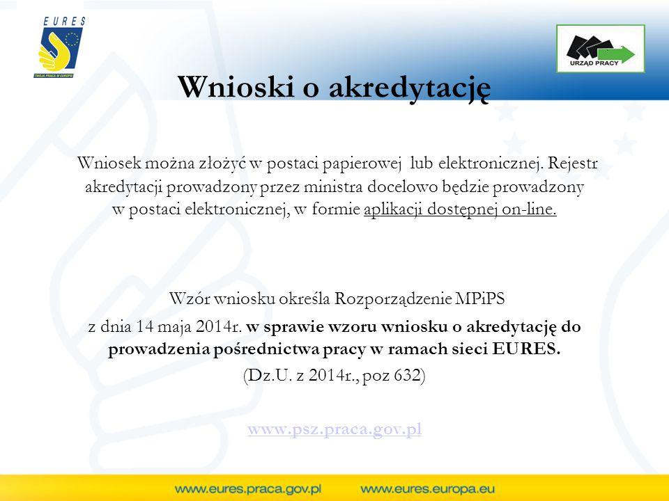 Wnioski o akredytację Wniosek można złożyć w postaci papierowej lub elektronicznej.