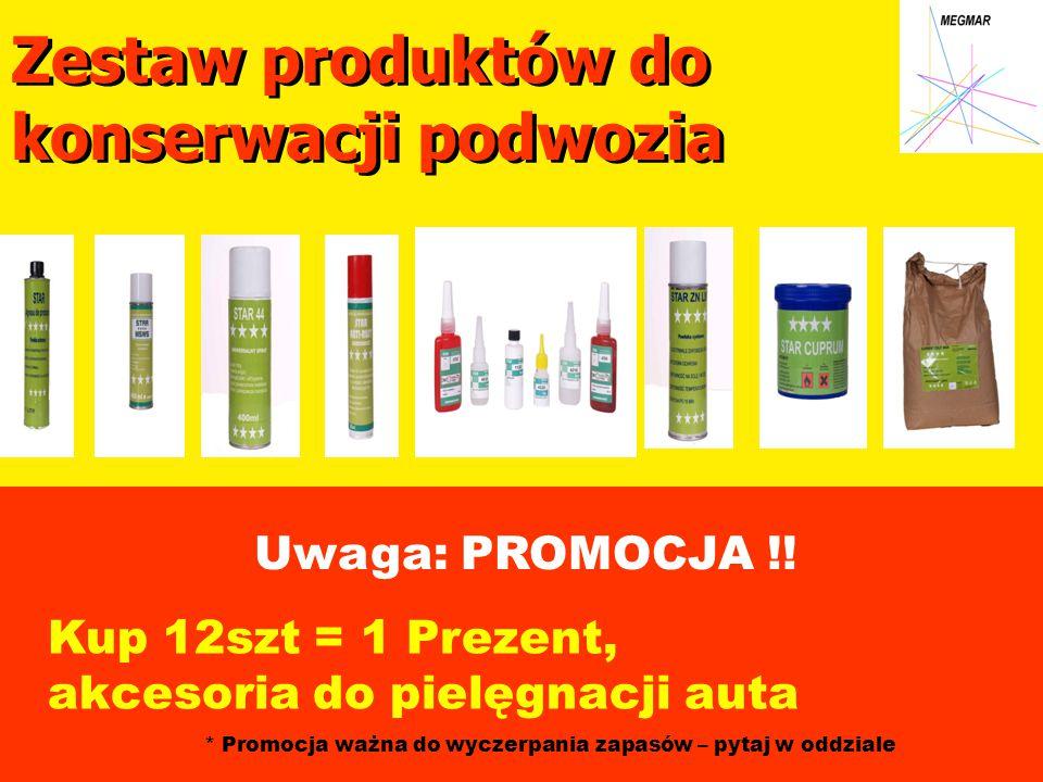 Zestaw produktów do konserwacji podwozia Uwaga: PROMOCJA !.