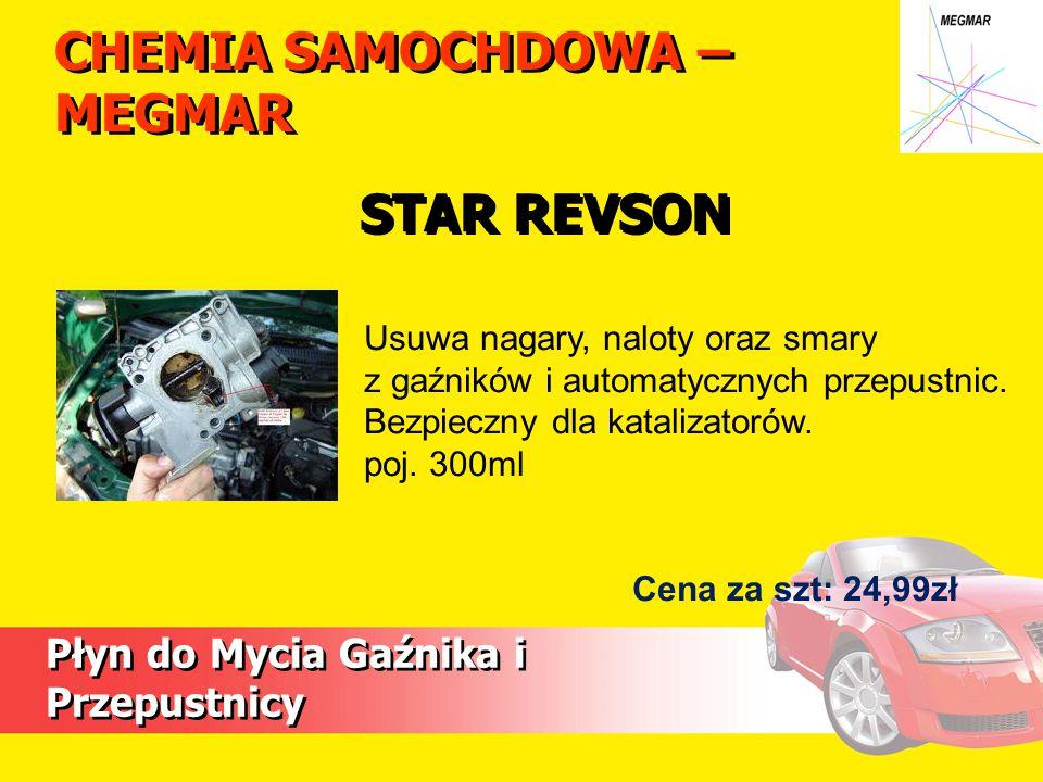 CHEMIA SAMOCHDOWA – MEGMAR Płyn do Mycia Gaźnika i Przepustnicy Usuwa nagary, naloty oraz smary z gaźników i automatycznych przepustnic.