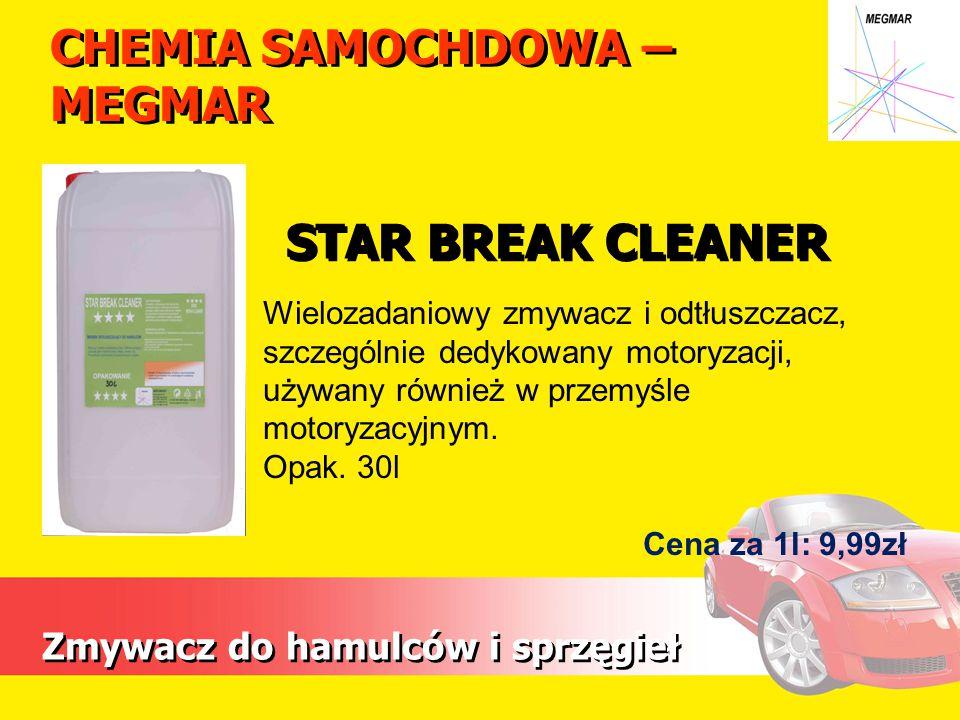 CHEMIA SAMOCHDOWA – MEGMAR Zmywacz do hamulców i sprzęgieł Wielozadaniowy zmywacz i odtłuszczacz, szczególnie dedykowany motoryzacji, używany również w przemyśle motoryzacyjnym.
