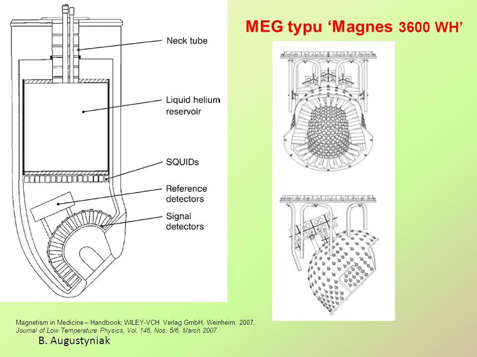 MEG typu 'Magnes 3600 WH' B. Augustyniak Magnetism in Medicine – Handbook; WILEY-VCH Verlag GmbH, Weinheim, 2007, Journal of Low Temperature Physics,