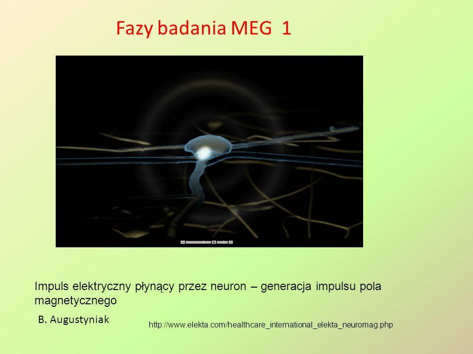 Fazy badania MEG 1 http://www.elekta.com/healthcare_international_elekta_neuromag.php B. Augustyniak Impuls elektryczny płynący przez neuron – generac
