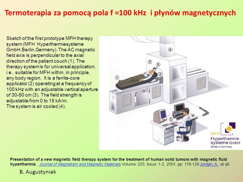 Termoterapia za pomocą pola f =100 kHz i płynów magnetycznych Presentation of a new magnetic field therapy system for the treatment of human solid tum