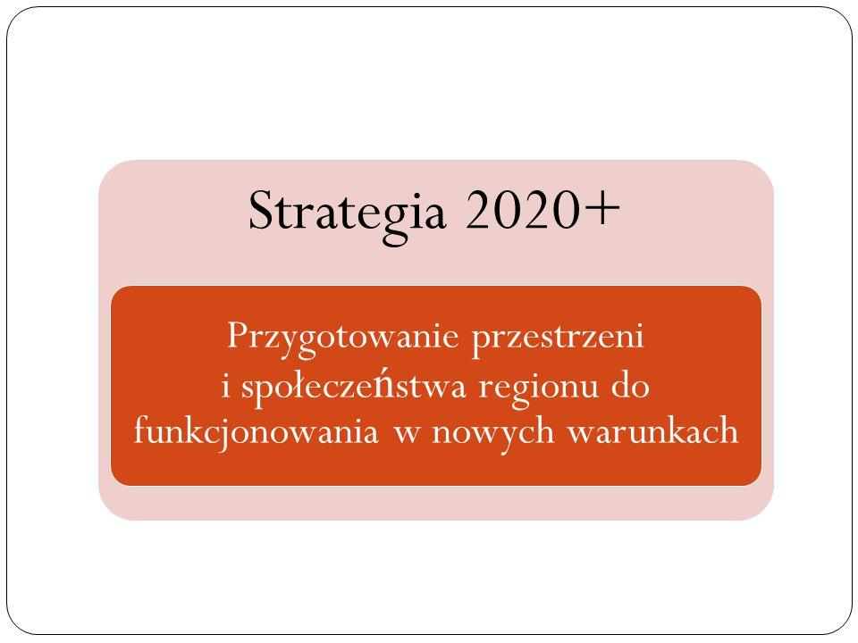 Strategia 2020+ Przygotowanie przestrzeni i społecze ń stwa regionu do funkcjonowania w nowych warunkach