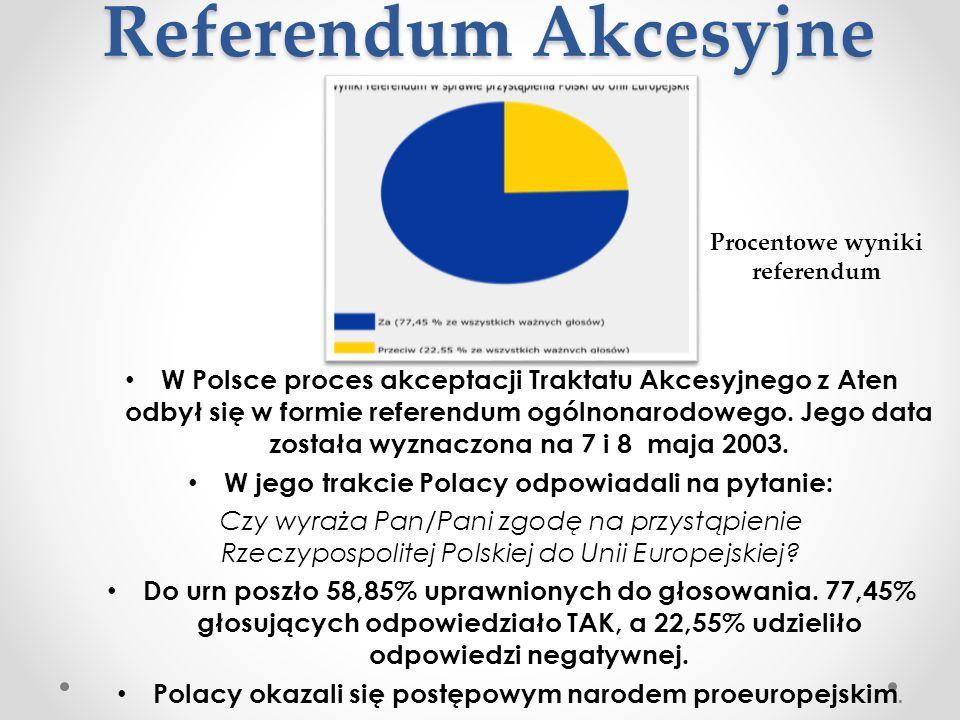 Referendum Akcesyjne W Polsce proces akceptacji Traktatu Akcesyjnego z Aten odbył się w formie referendum ogólnonarodowego. Jego data została wyznaczo
