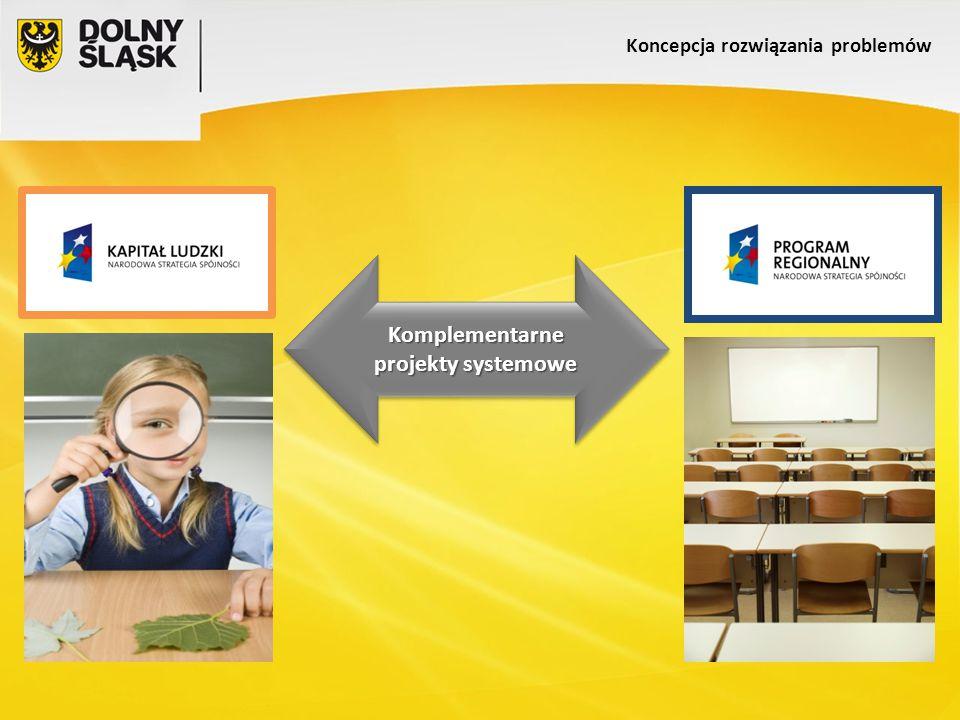 Koncepcja rozwiązania problemów Komplementarne projekty systemowe Komplementarne