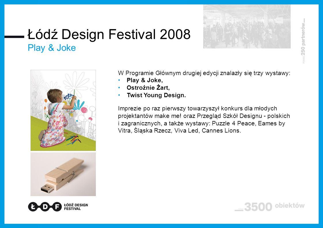 W Programie Głównym drugiej edycji znalazły się trzy wystawy: Play & Joke, Ostrożnie Żart, Twist Young Design.