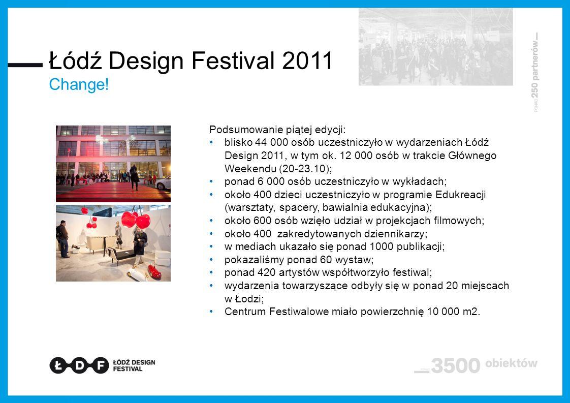 Podsumowanie piątej edycji: blisko 44 000 osób uczestniczyło w wydarzeniach Łódź Design 2011, w tym ok.