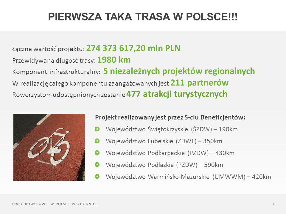 TRASY ROWEROWE W POLSCE WSCHODNIEJ15 RAPORT z badań wizerunkowo-jakościowych turystyki rowerowej w Polsce Wschodniej Badania jakościowe: Wywiady grupowe wśród 202 uczestników Wywiady indywidualne: 30 wywiadów Badania metodą CAWI: 7361 uczestników W sumie liczebność analizowanej próby wyniosła: 5414 respondentów