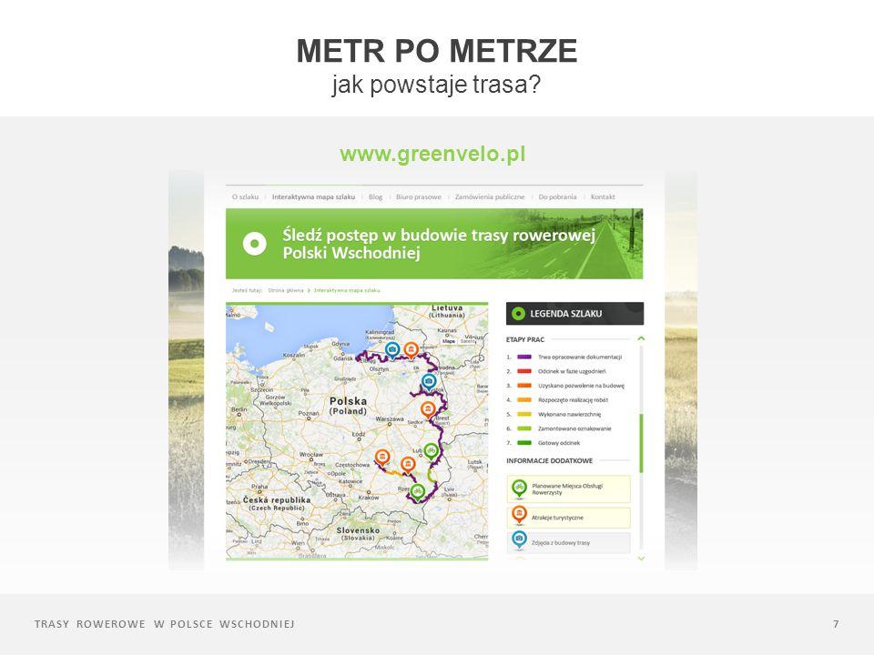 TRASY ROWEROWE W POLSCE WSCHODNIEJ7 METR PO METRZE jak powstaje trasa? www.greenvelo.pl