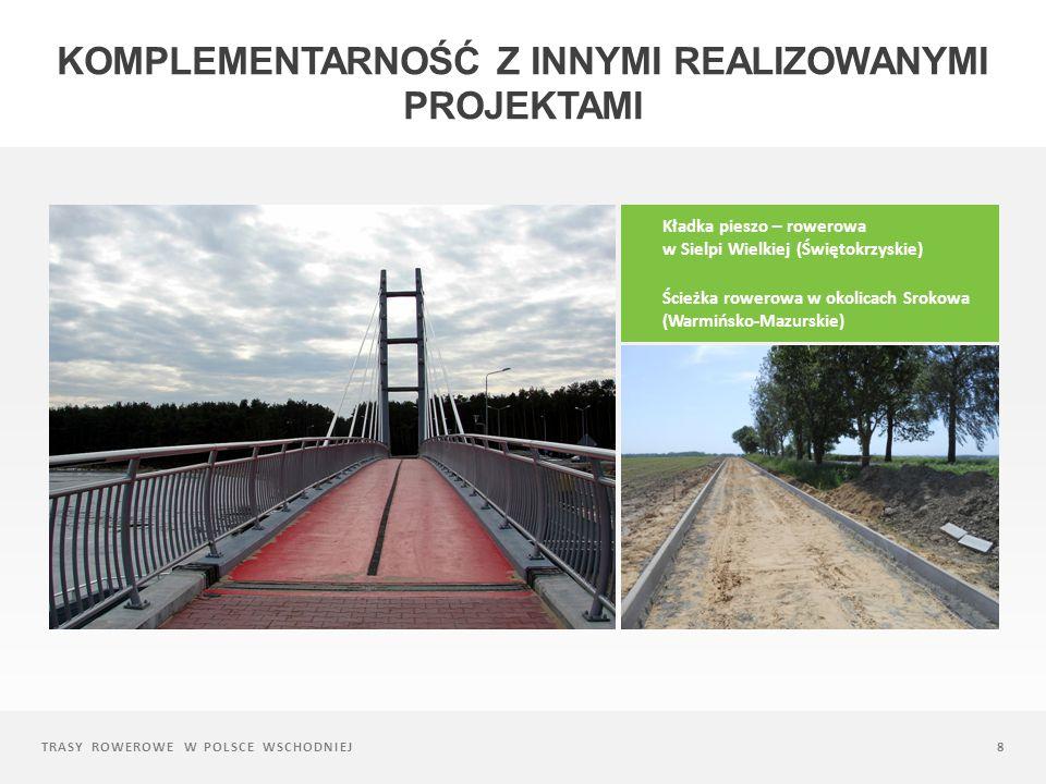 TRASY ROWEROWE W POLSCE WSCHODNIEJ39 CIĄG DALSZY NASTĄPI spójne zarządzanie trasą Powołanie międzyregionalnego podmiotu (stowarzyszenia) – operatora trasy utrzymanie trwałość infrastruktury oraz wypracowanych rozwiązań inwestycyjnych (trwałość), podniesienie efektywności skali podejmowanych działań promocyjnych (promocja), rozwój oferty komercyjnej i współpracy z przedsiębiorcami (komercjalizacja), dalszy rozwoju produktu turystycznego i rozbudowy o kolejne elementy infrastruktury itp.