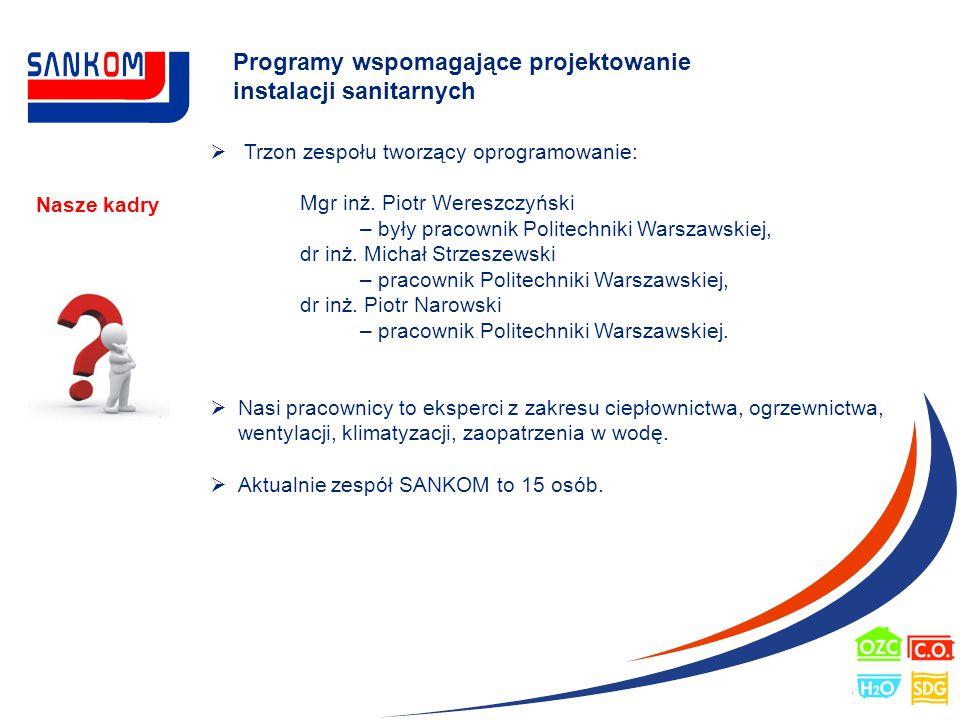 Programy wspomagające projektowanie instalacji sanitarnych Nasze doświadczenie i osiągnięcia  Ponad 18 letnia obecność oprogramowania na rynku polskim.