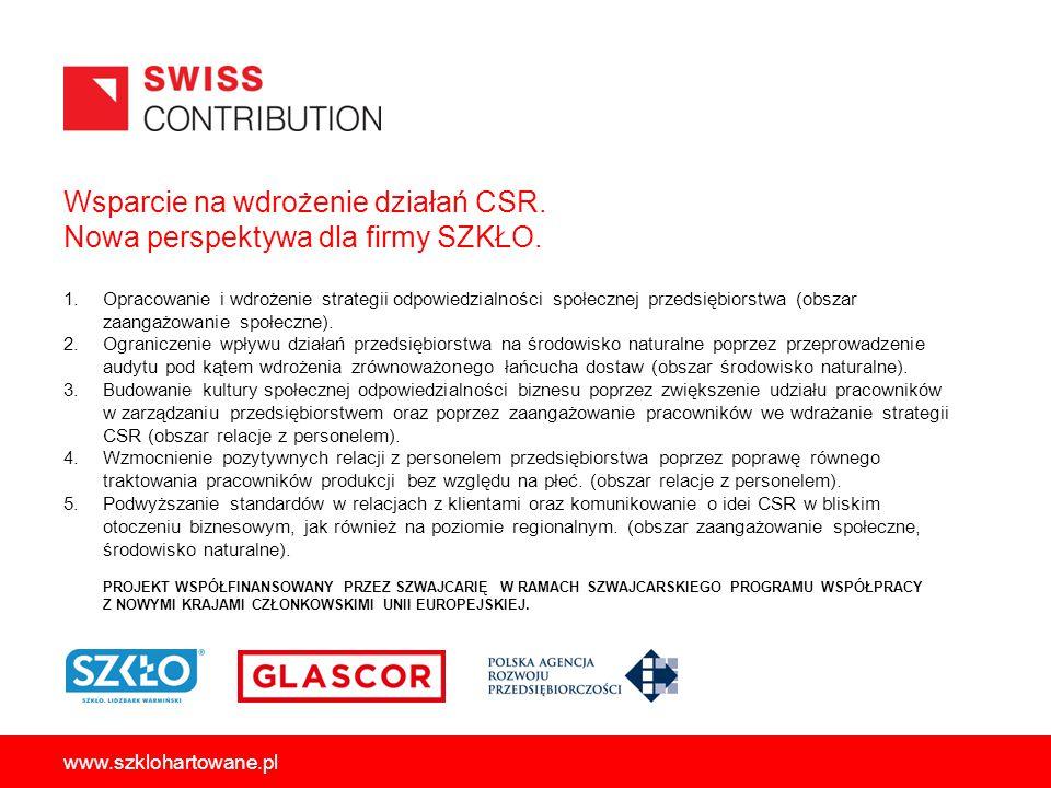 Wsparcie na wdrożenie działań CSR. Nowa perspektywa dla firmy SZKŁO.