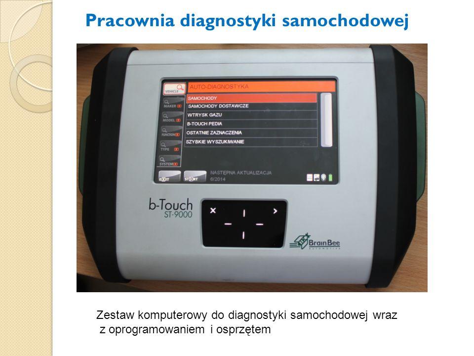 Zestaw komputerowy do diagnostyki samochodowej wraz z oprogramowaniem i osprzętem Pracownia diagnostyki samochodowej
