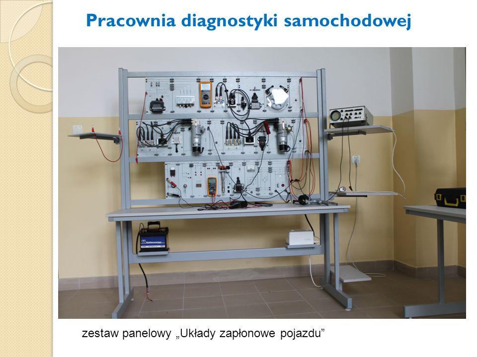 """zestaw panelowy """"Układy zapłonowe pojazdu"""" Pracownia diagnostyki samochodowej"""