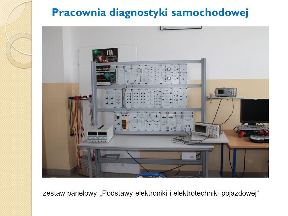 """zestaw panelowy """"Podstawy elektroniki i elektrotechniki pojazdowej"""" Pracownia diagnostyki samochodowej"""