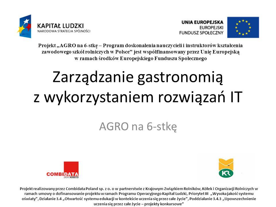 """Projekt """"AGRO na 6-stkę – Program doskonalenia nauczycieli i instruktorów kształcenia zawodowego szkół rolniczych w Polsce"""" jest współfinansowany prze"""