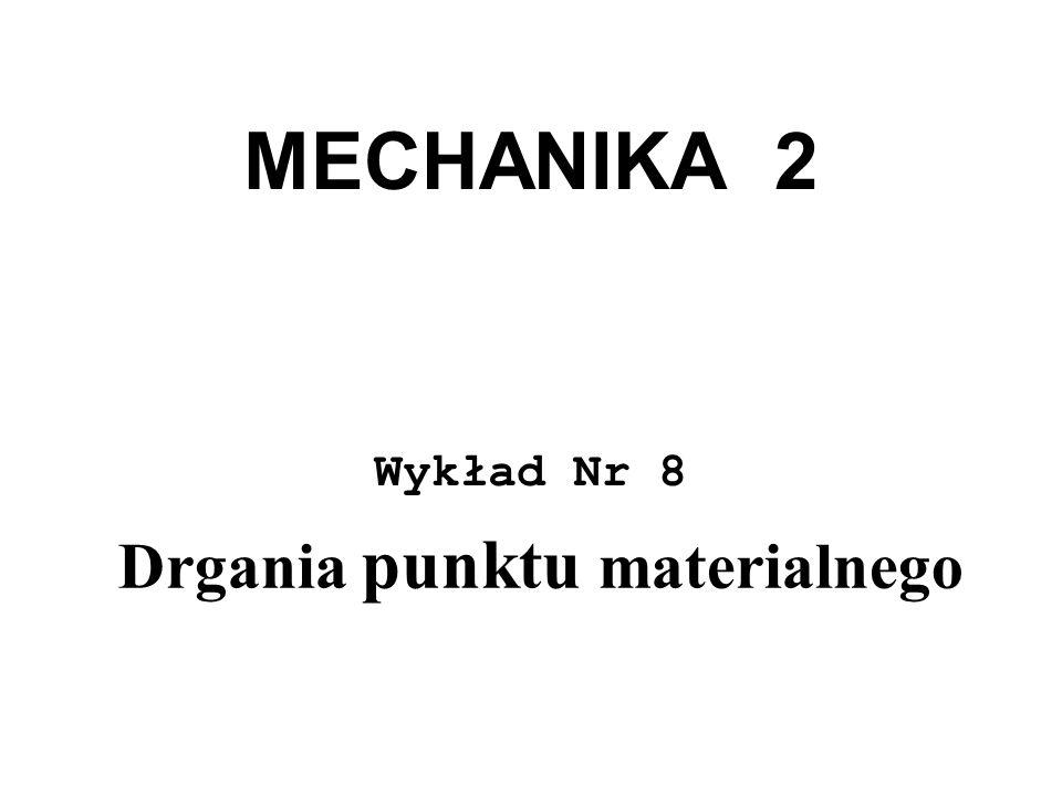 MECHANIKA 2 Wykład Nr 8 Drgania punktu materialnego